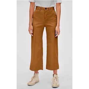 GAP High Rise Wide-Leg Crop Chinos Pants